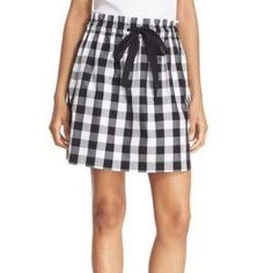Kate Spade Broome Street Gingham Mini Skirt